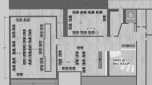 TCZF 2017 exhibitor floorplan with table numbers